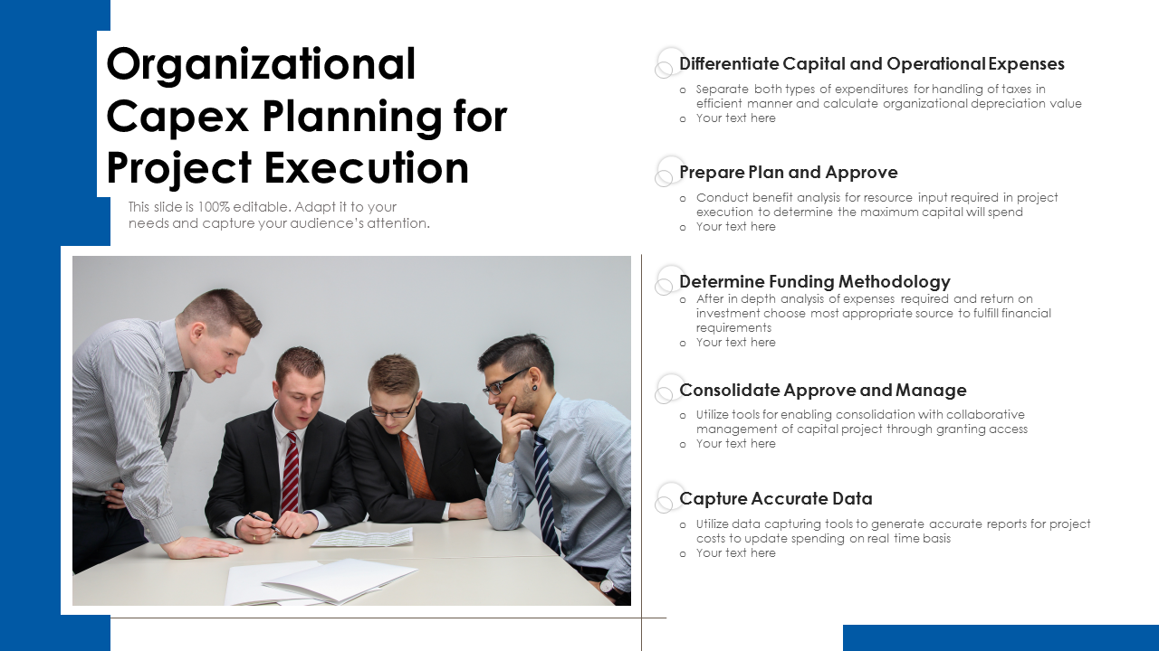 Organizational Capex Planning For Project Execution PowerPoint Slides