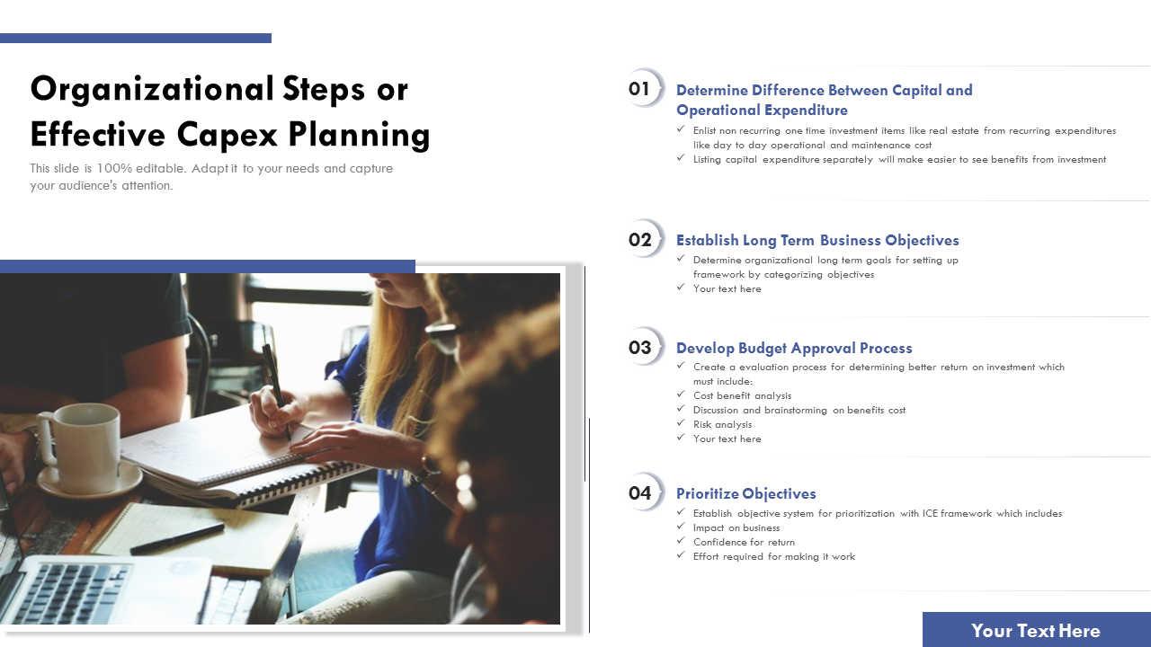 Organizational Steps For Effective Capex Planning PowerPoint Slides