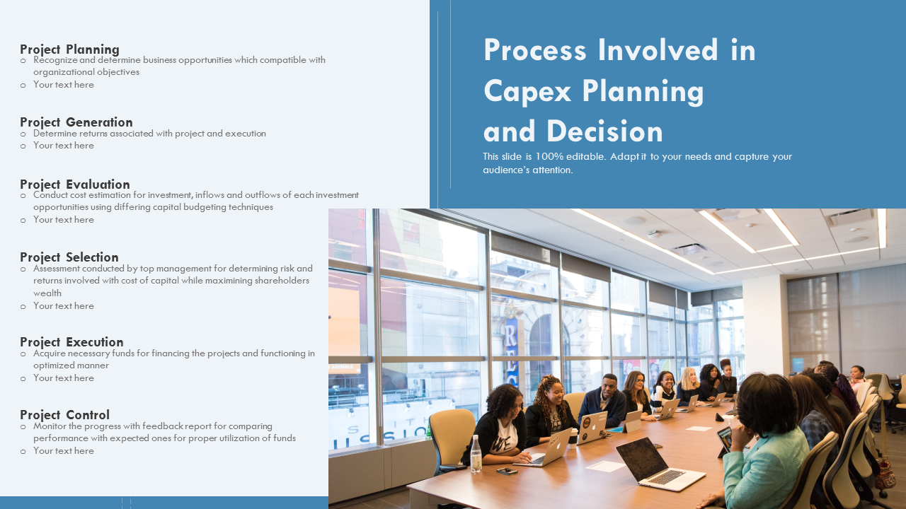 Process Involved In Capex Planning And Decision PowerPoint Slides
