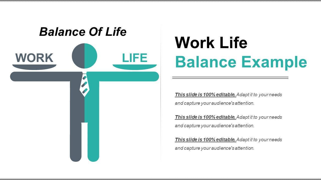 Work-Life Balance Example PowerPoint Templates