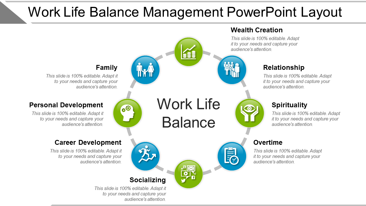 Work-Life Balance Management PowerPoint Layout