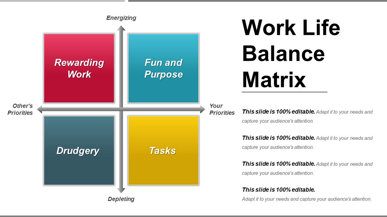 Work-Life Balance Matrix PowerPoint Presentation