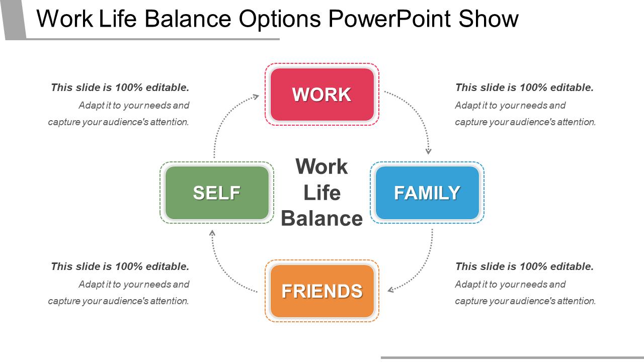 Work-Life Balance Options PowerPoint Template