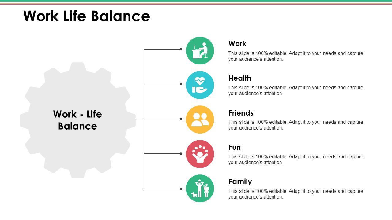 Work-Life Balance PPT Infographics