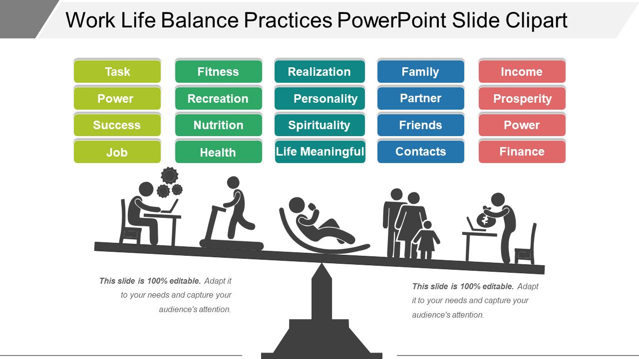 Work-Life Balance Practices PowerPoint Slide