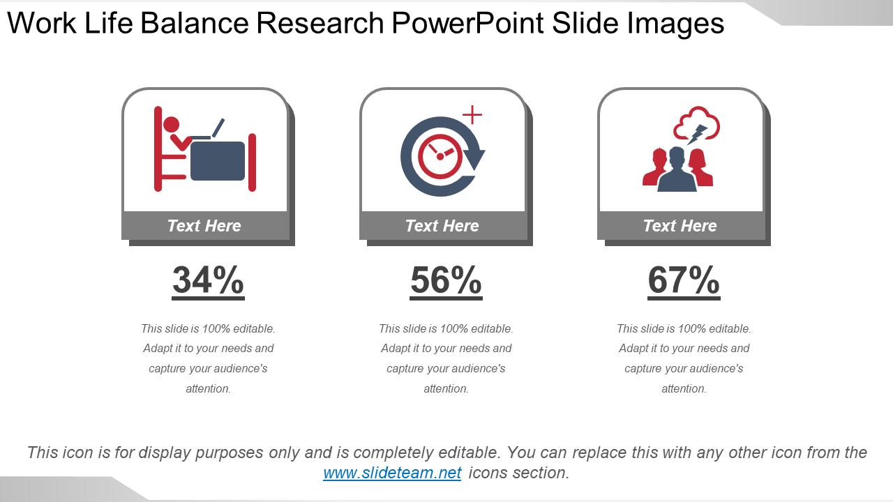 Work-Life Balance Research PowerPoint Slide