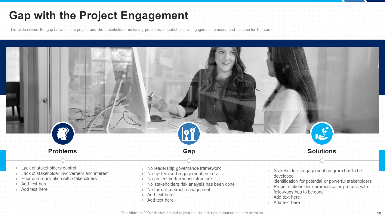 Gap with the Project Engagement PowerPoint Slide