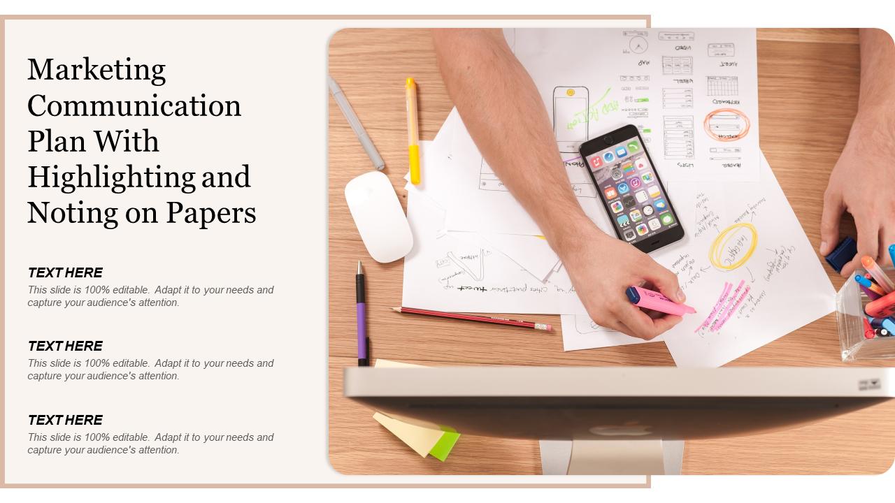 Marketing Communication Plan PowerPoint Slide
