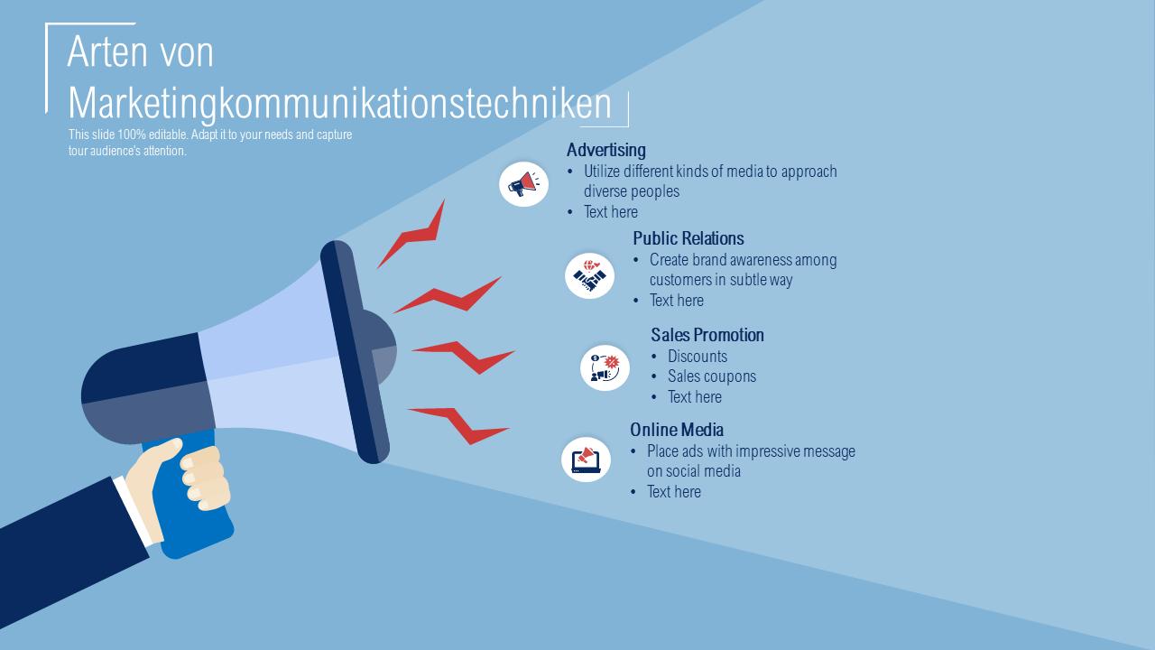 Arten von Marketingkommunikationstechniken