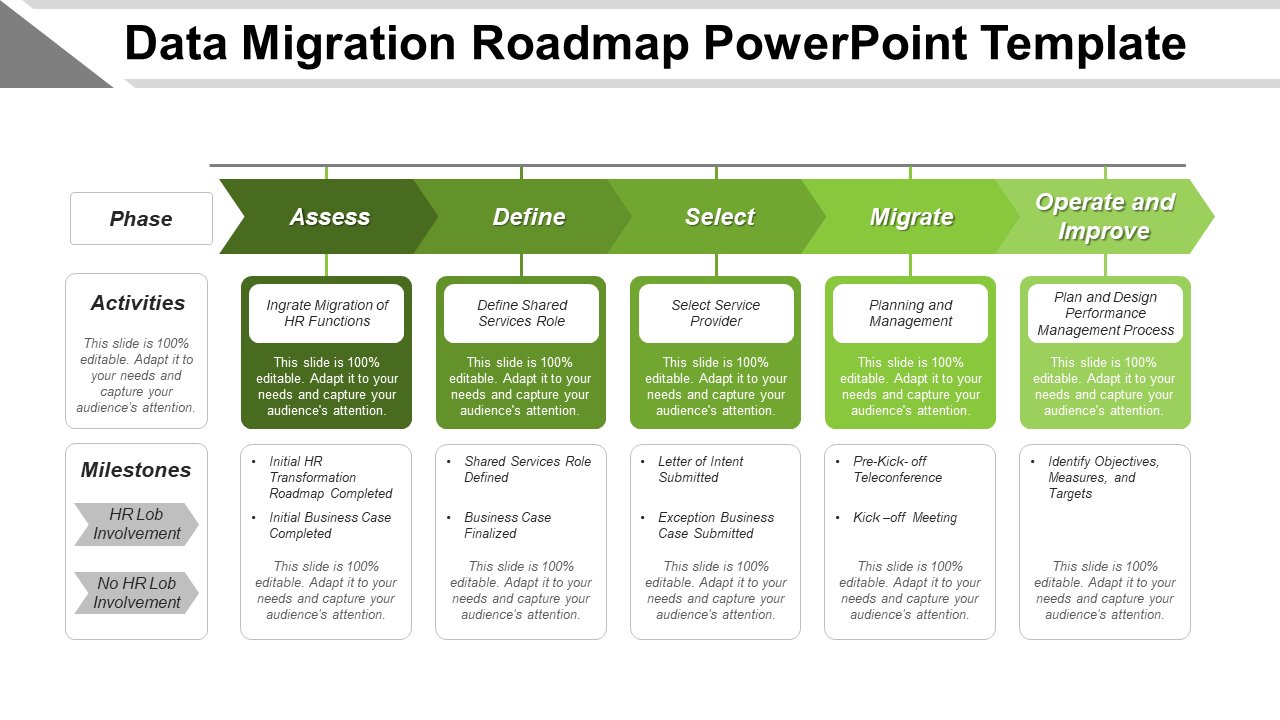 Data Migration Roadmap PowerPoint Template