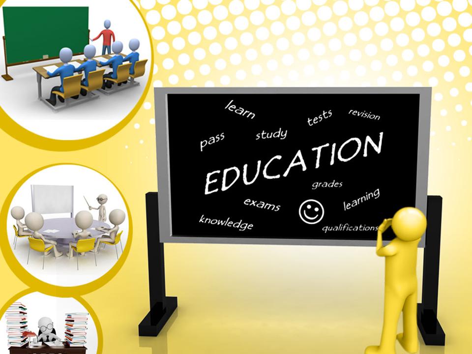 Education Blackboard PowerPoint Presentation Slides