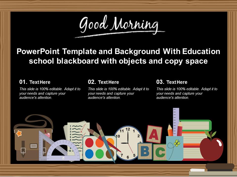 Education School Blackboard PowerPoint Slides
