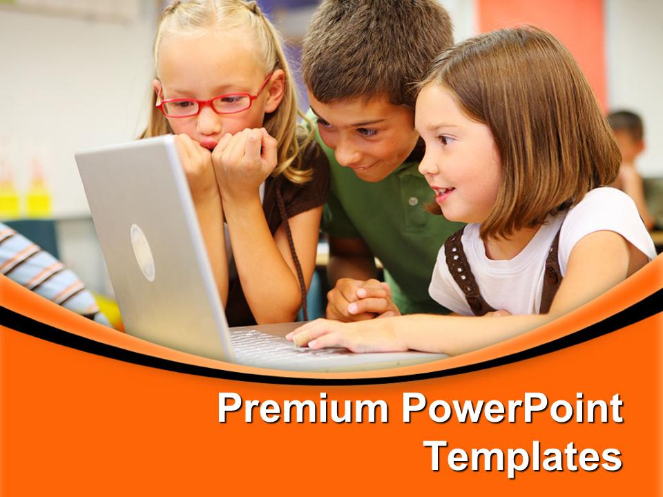Elementary School Students Education PowerPoint Templates