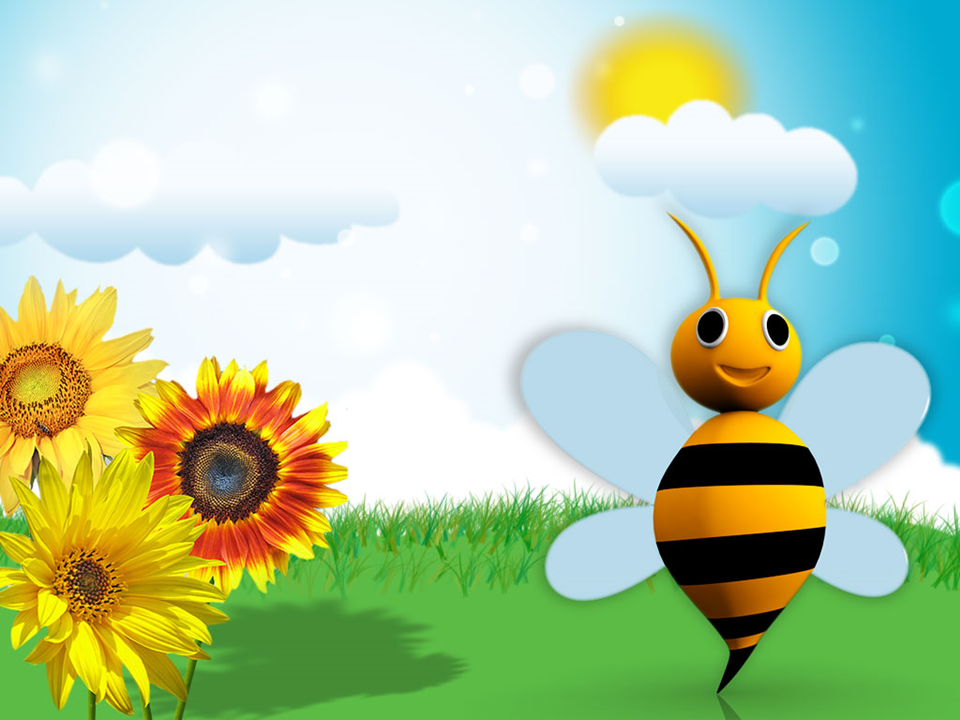 Illustration Of Bright Sunny Day PowerPoint Templates