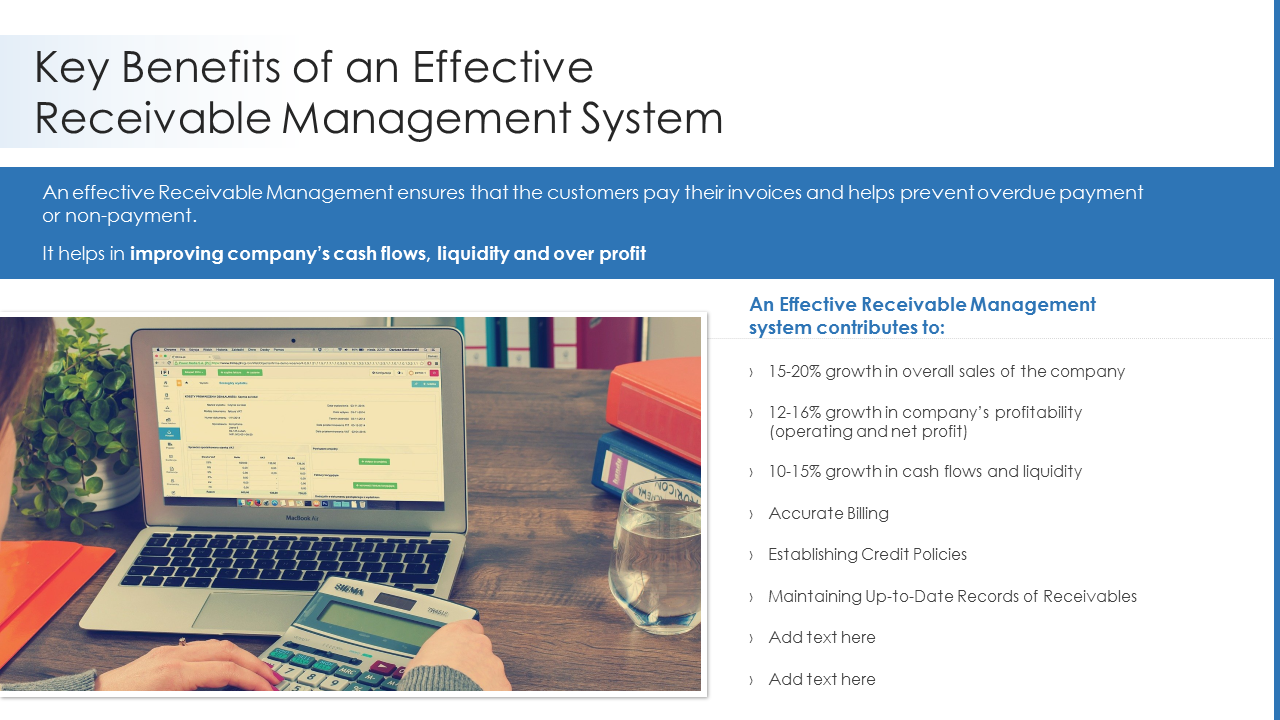 Key Benefits Of An Effective Receivable Management System PowerPoint Slides
