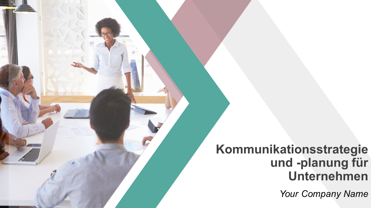 Kommunikationsstrategie und planung für Unternehmen PowerPoint Präsentation