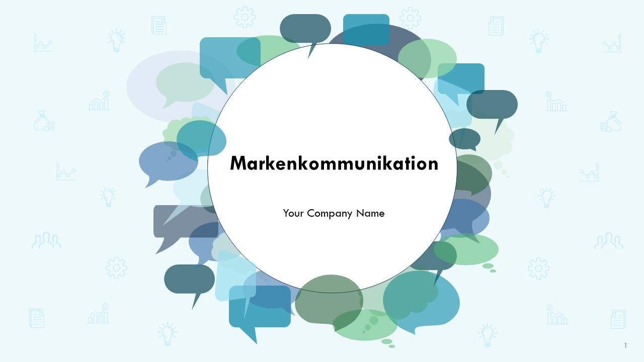 Markenkommunikation PowerPoint Präsentation