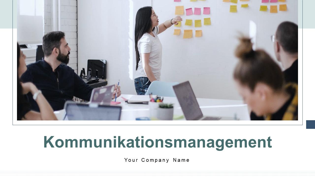 PPT Vorlage für Kommunikationsmanagementprozesse