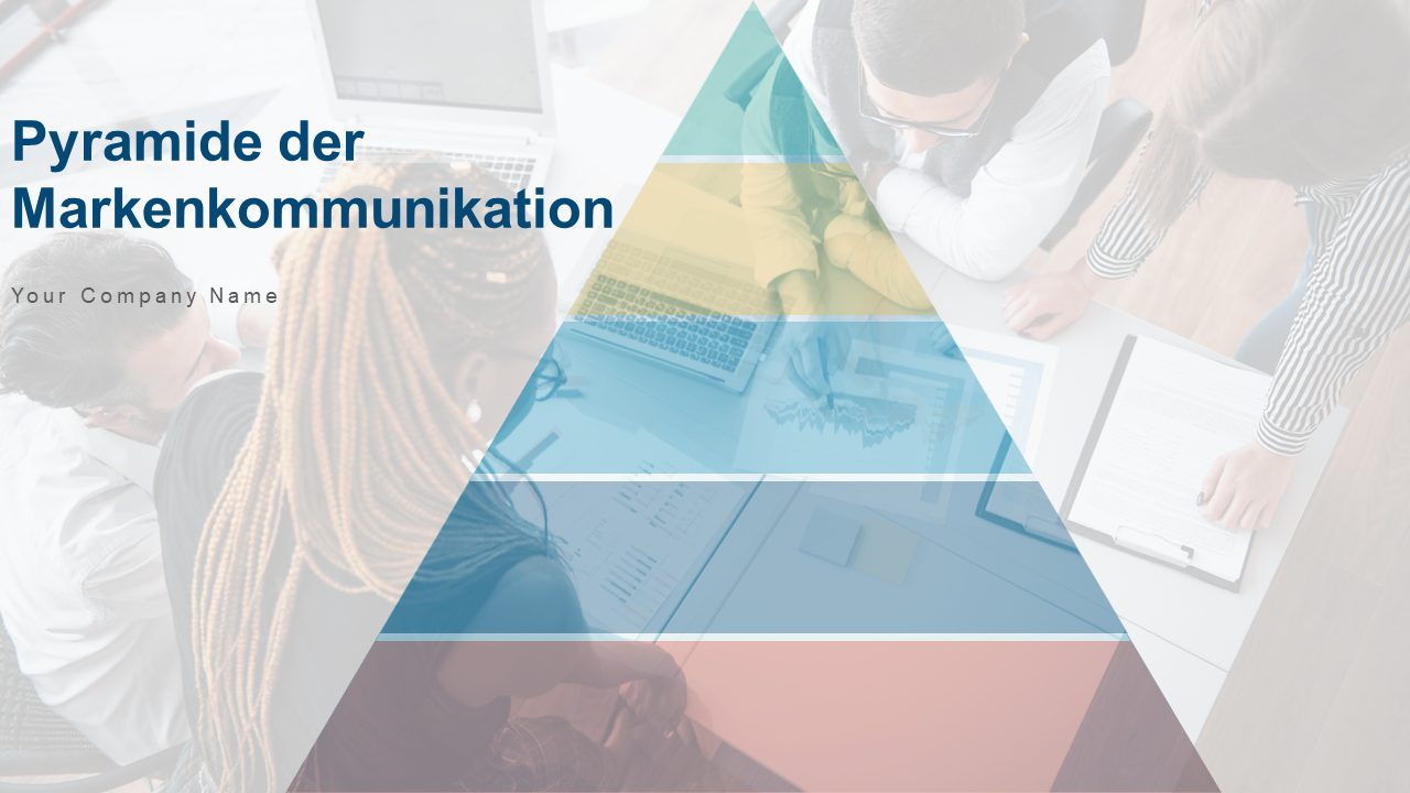 PPT Vorlage zur Bekanntheitspyramide der Markenkommunikation