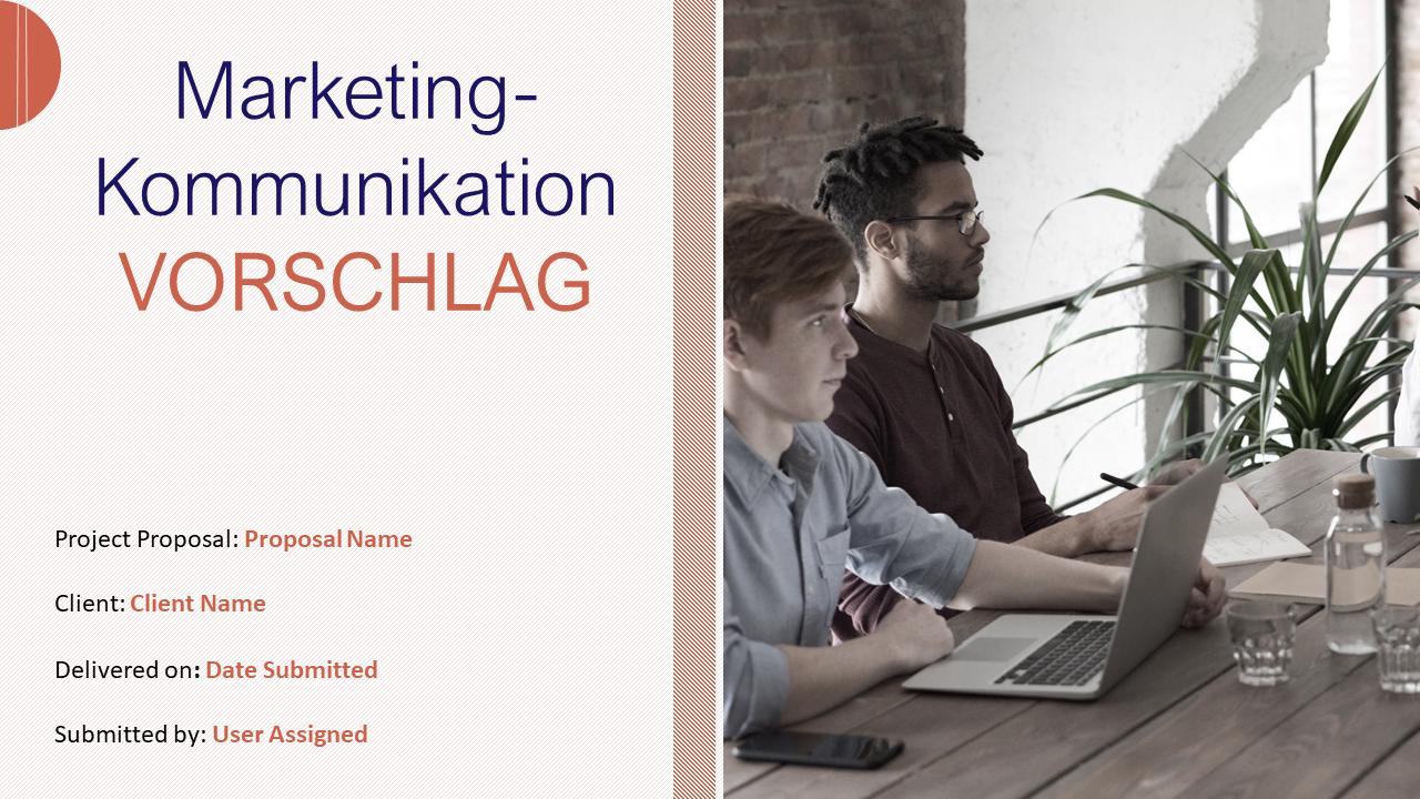 PowerPoint Präsentation für Marketingkommunikationsvorschläge