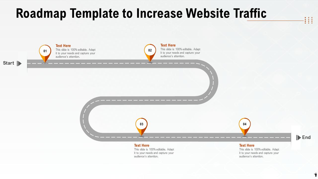 Roadmap Template to Increase Website Traffic