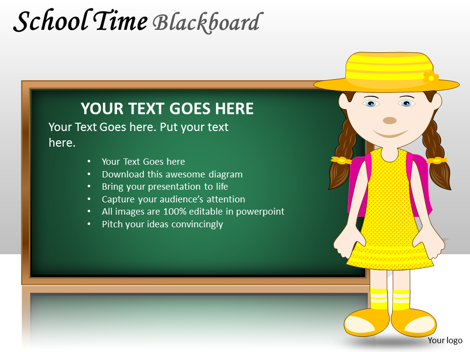 School Time Blackboard PowerPoint Presentation Templates