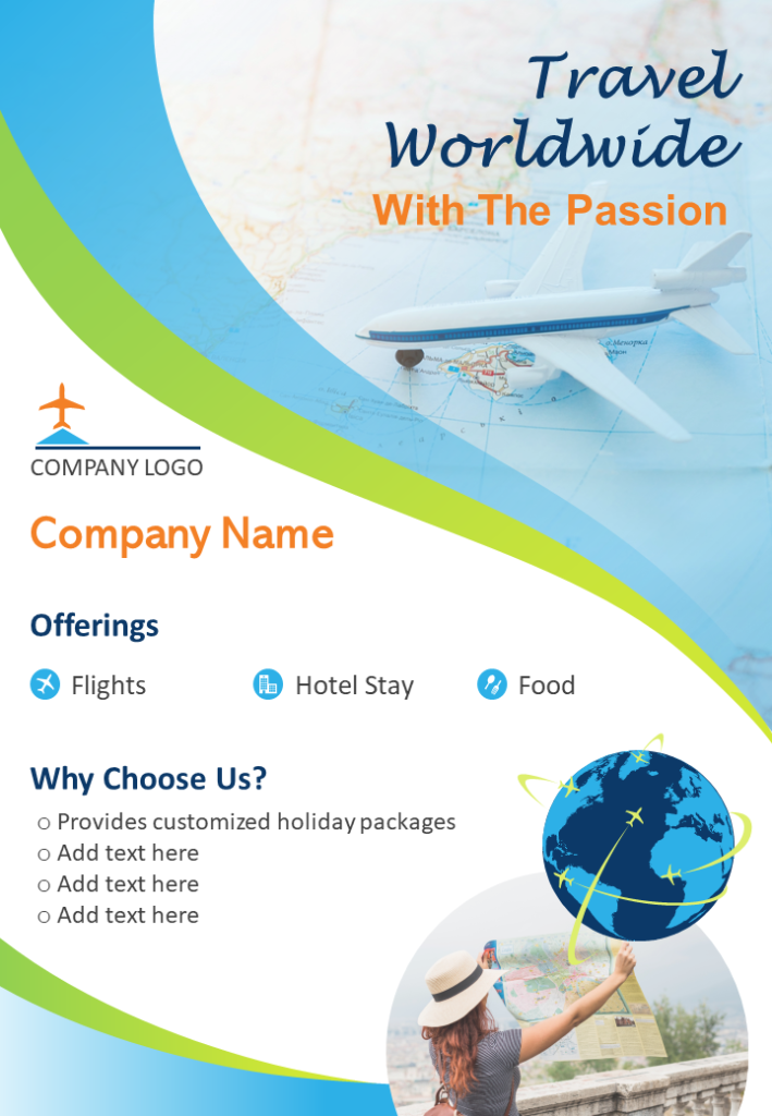 Tourism Business Flyer Two Page Brochure Template