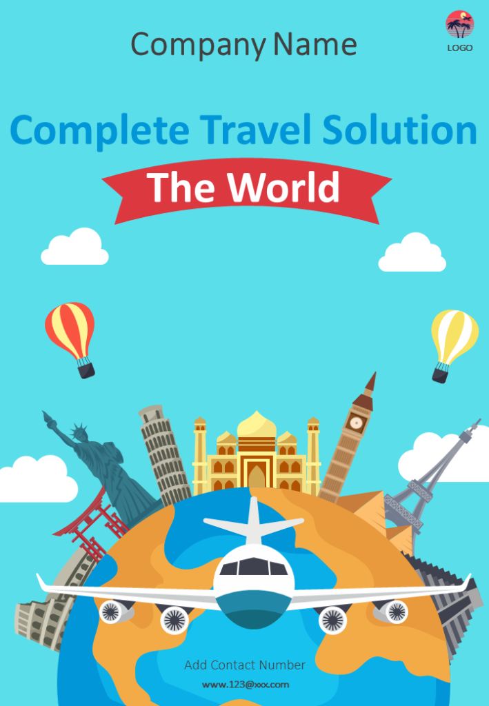 Travel Agency Four Page Brochure Template