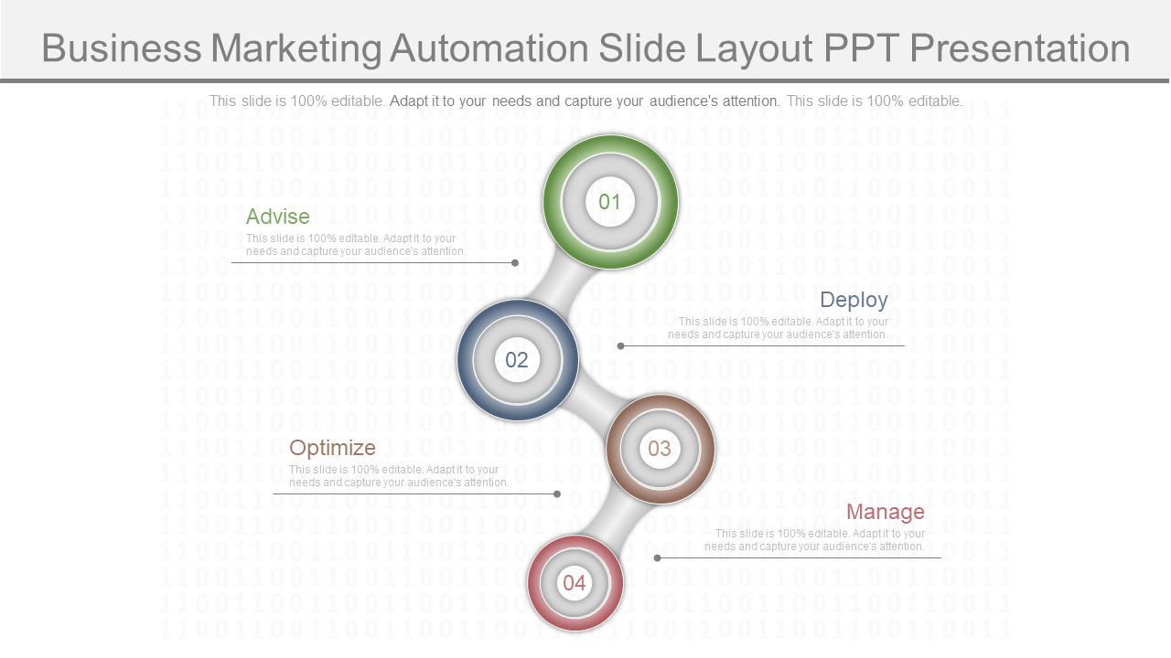 Business Marketing Automation Slide Layout Ppt Presentation