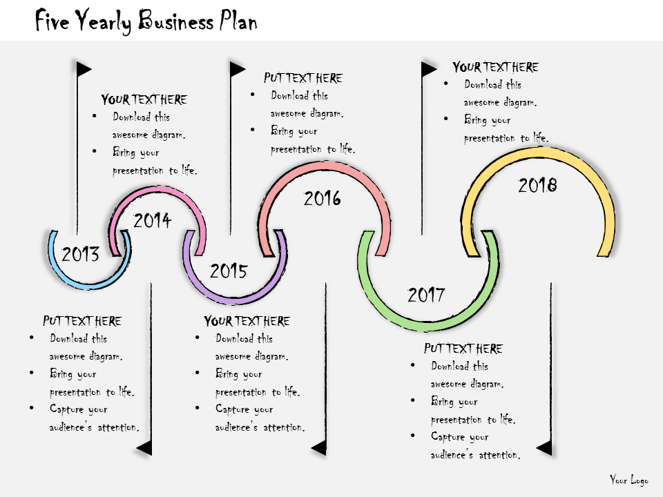 Five Yearly Business Plan PowerPoint Template