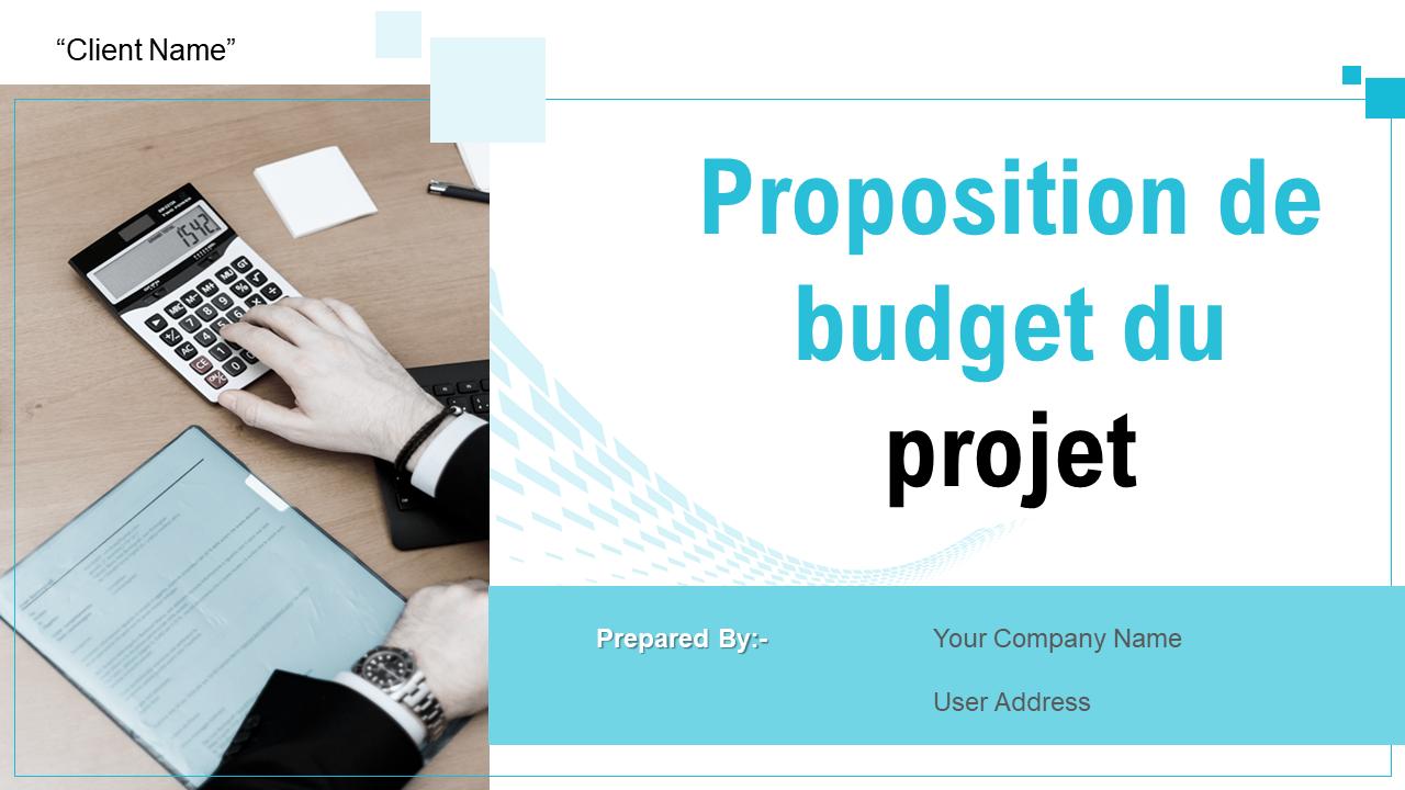 Proposition de budget du projet
