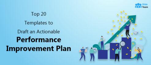Top 20 Templates to Draft an Actionable Performance Improvement Plan